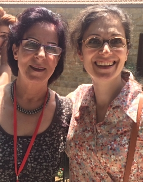 Nisryn with her mother, Nawal from Aleppo