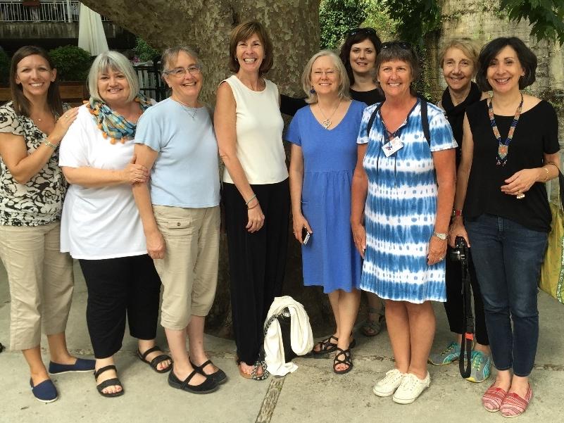 The Outreach team (left to right): Sandy O'Meara, Marilyn Borst, Julie Burgess, Kitty Daniels, Nancy Fox, Sara Dingman, Juli Bramble, Susan Witt, Lisa Culpepper
