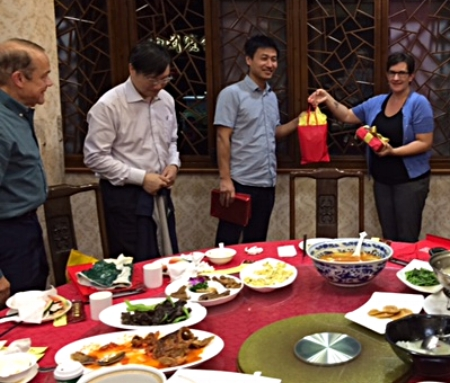 Dinner with Rev. He and Rev. Wang Bin