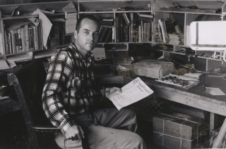 Ralph Winter in his study in 1958