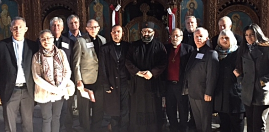 With Father Antonius at the Greek Orthodox Church