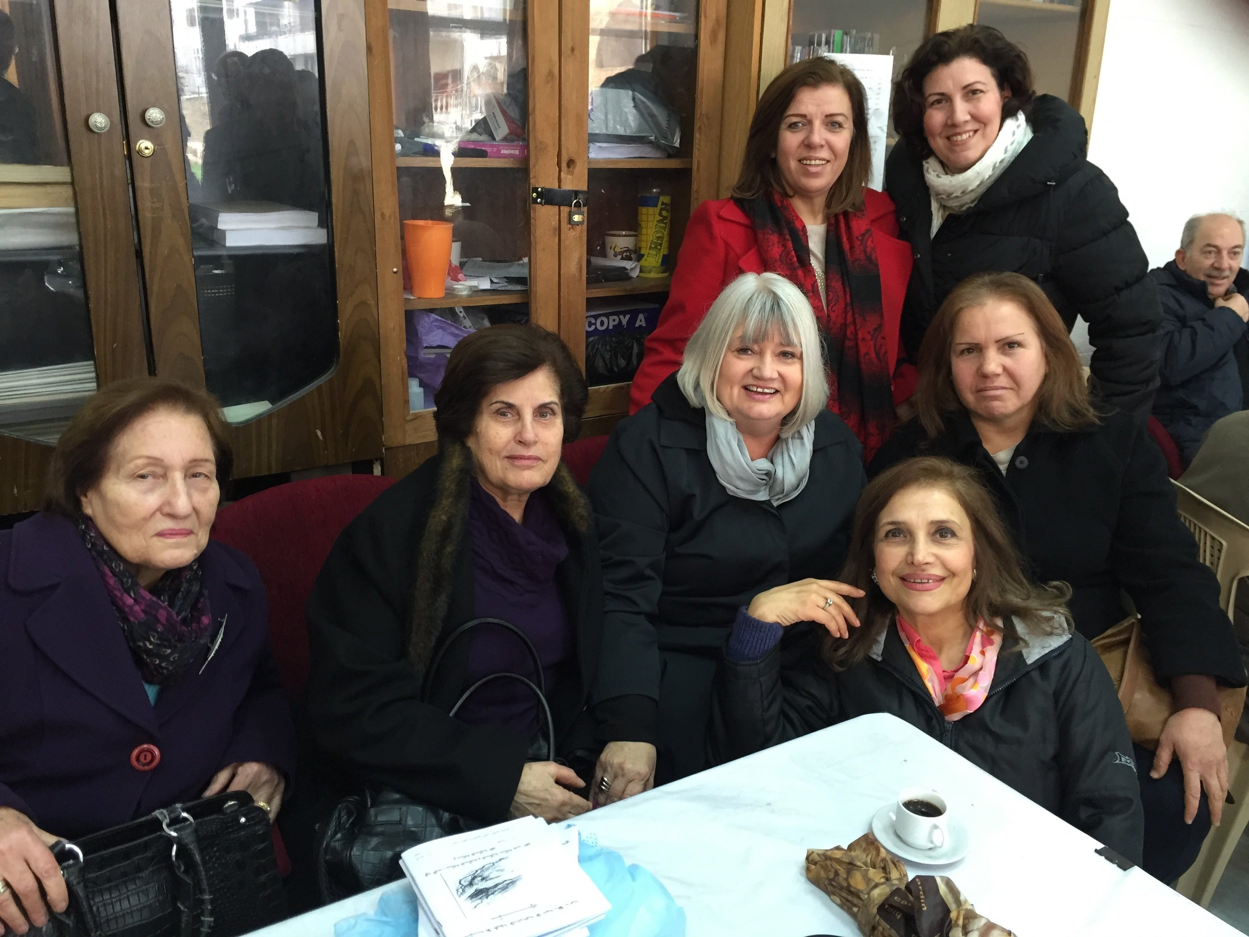 Outreach Associate Director Marilyn Borst (center) reunited   with   long-time friends.