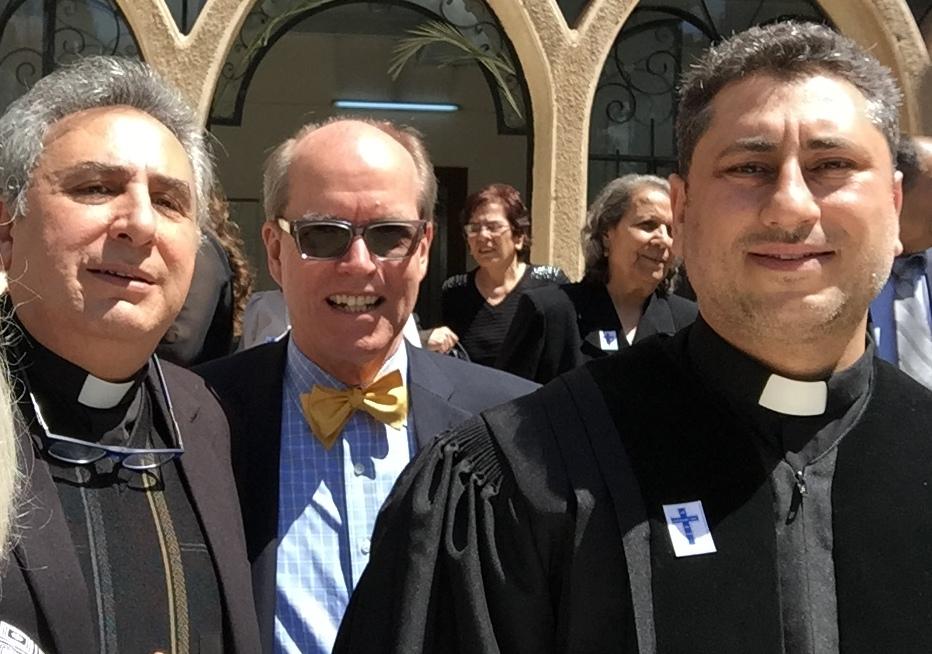 Rev. Joseph Kassab, Mark Borst and Rev. Firas Ferah