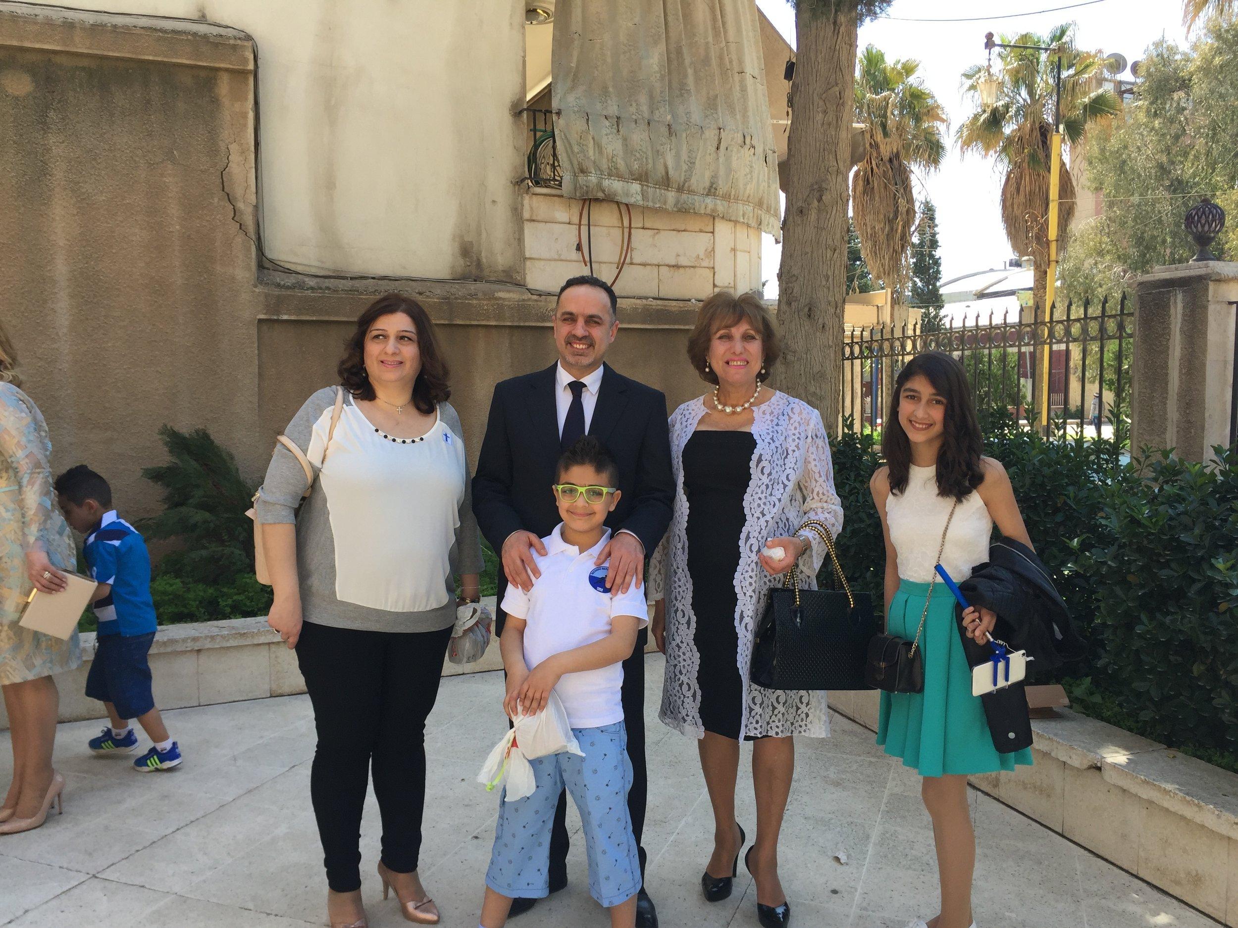 Elder Riad and his family, Qamishli