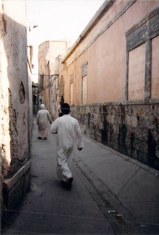 Winding our way through Old Mosul to the Presbyterian Church