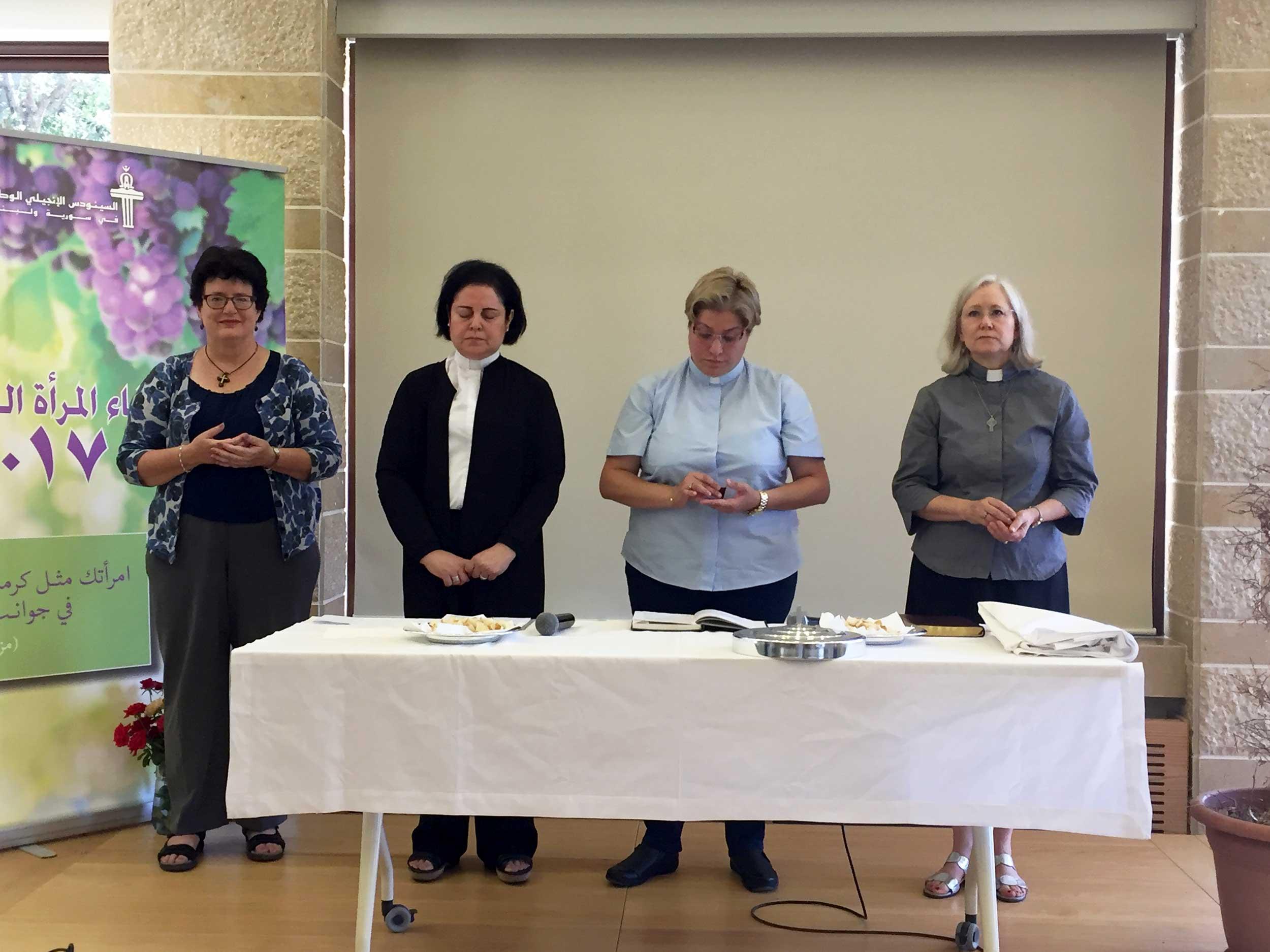 Revs Mary Beth, Najla, Rola, and Nancy