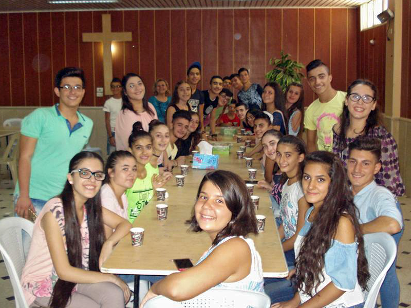 In Hasakeh, the youth of the church gather for Bible study, worship, and teaching with their friends  from the church in Qamishli.