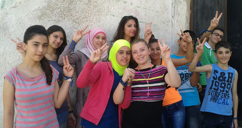 In Homs, young people of different faiths are brought together by the church to build bridges of friendship and understanding.
