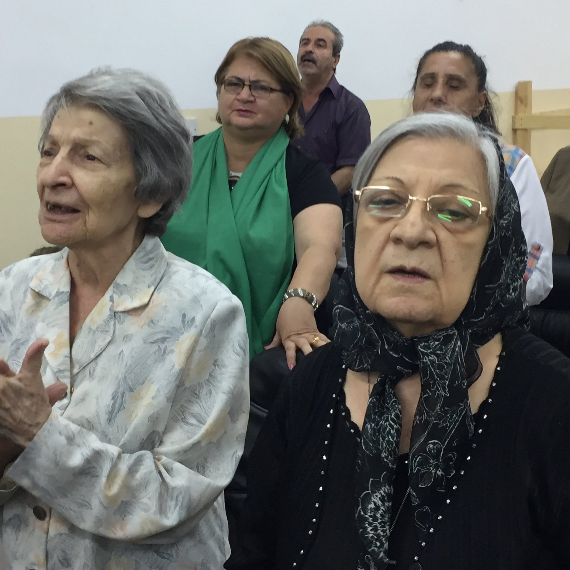 The women (and a few men!) gather for worship and Bible study midweek at the  Presbyterian Church in Baghdad.