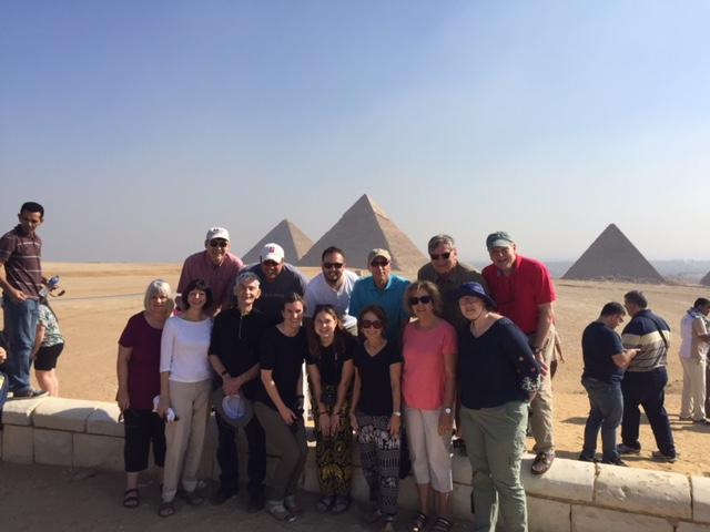 The group at the Ancient Pyramids of Giza