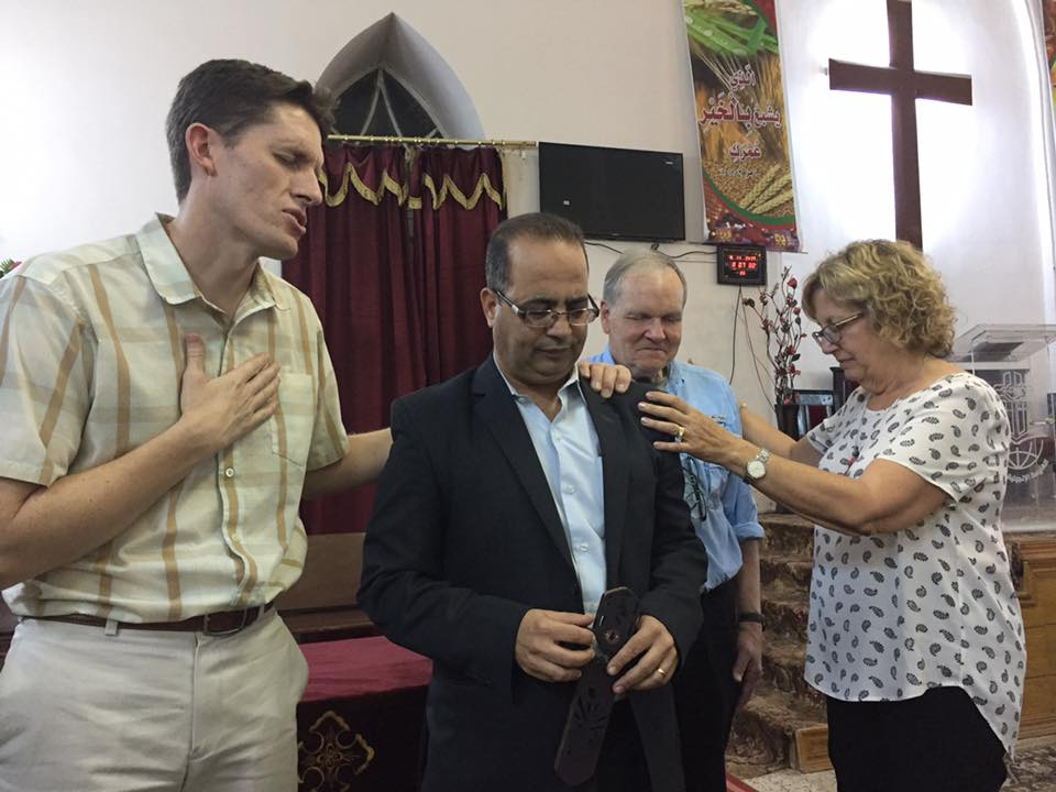 Praying over Pastor Mahroos in Luxor