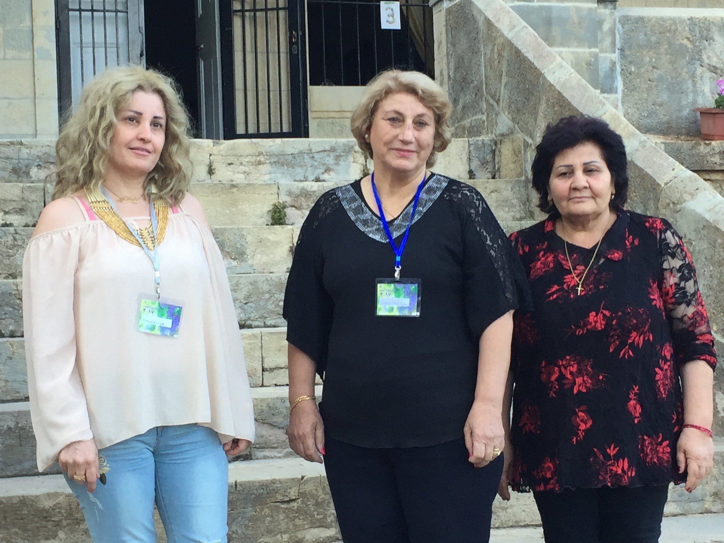 Three from the church in Malkieh, located in the far northeast corner of Syria, were able to attend a women's conference of the Synod held in Lebanon  because of your act of love.