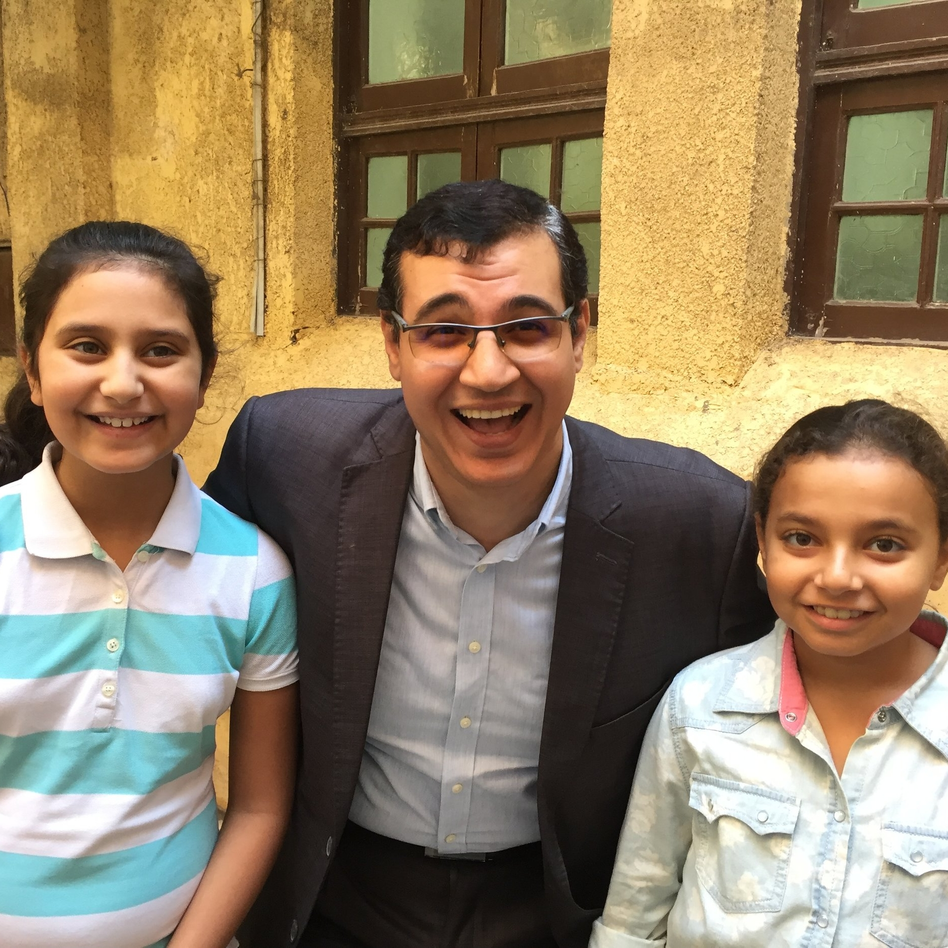 Rev. Wael with Ferah and Lily