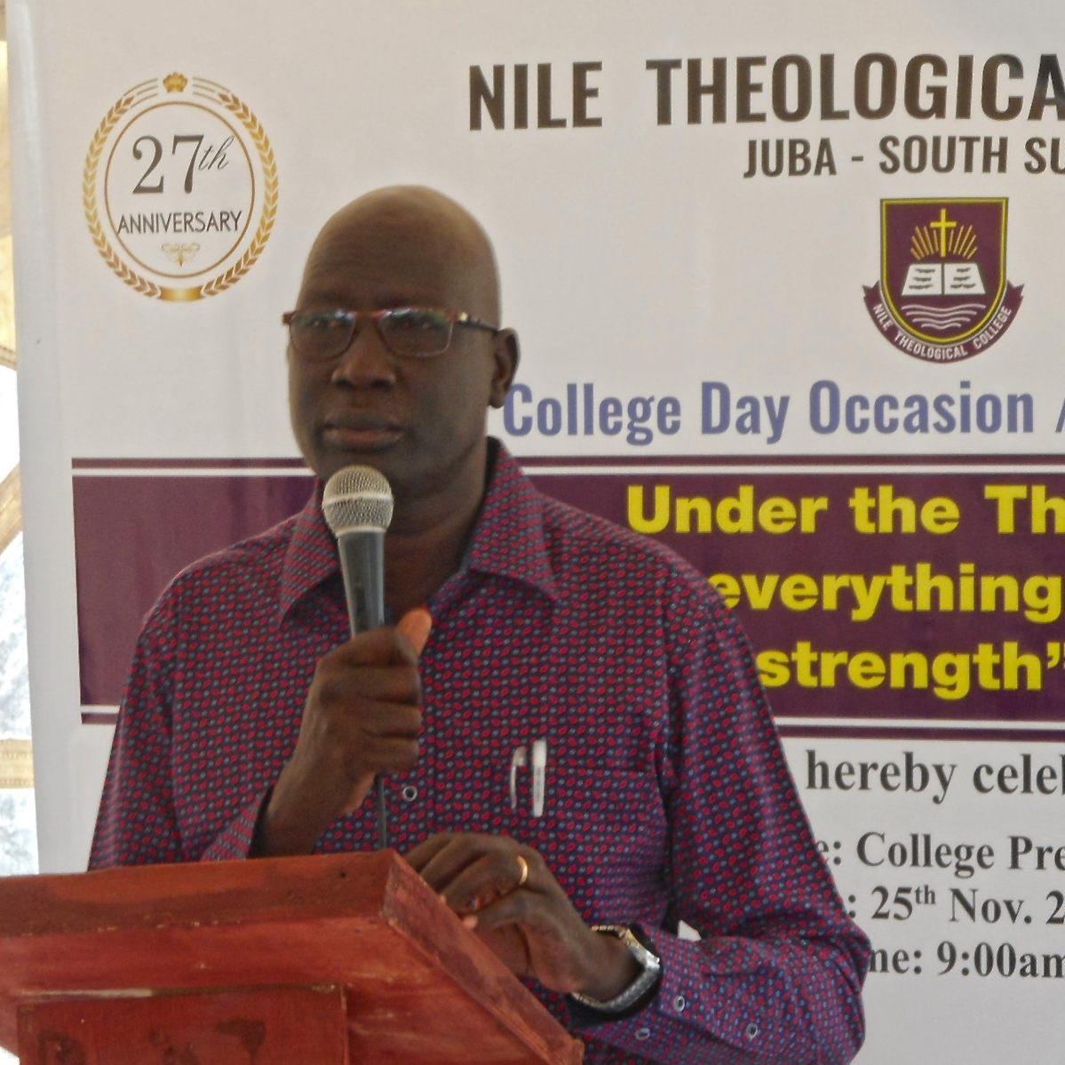 Rev. Samuel Jok, who teaches Sudanese Church History at NTC, preaches from Philippians 4:11-13.