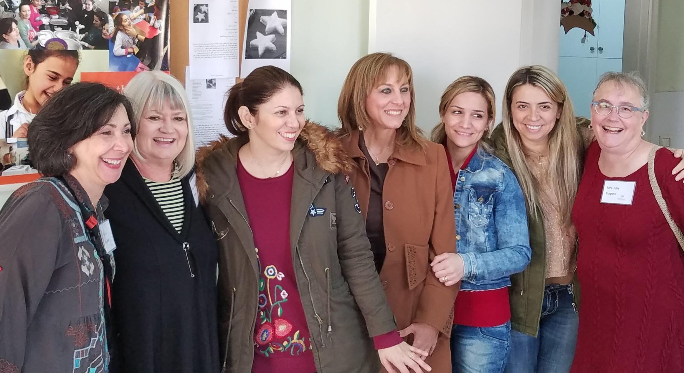 Lisa, Marilyn, Grace, Vivienne, Reem, Rola, and Julie