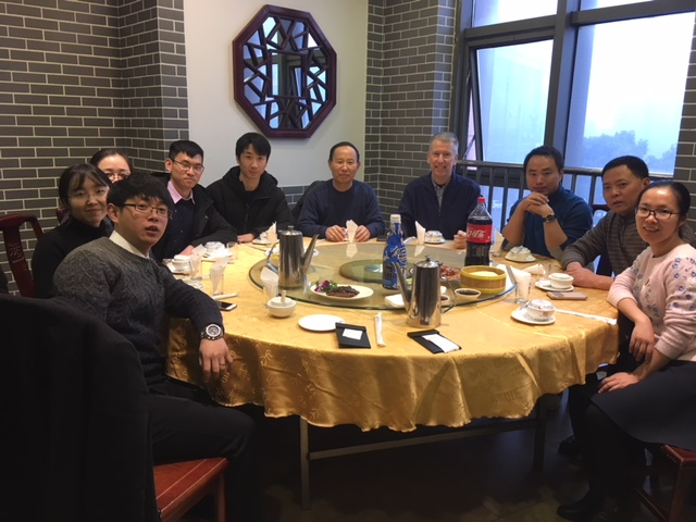 Pastor Leo (to my right) with some of the many seminary students he has nurtured.
