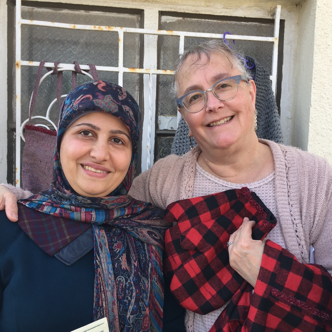 Hanan and Julie with some of her creations soon to be appearing in a kitchen in Omaha