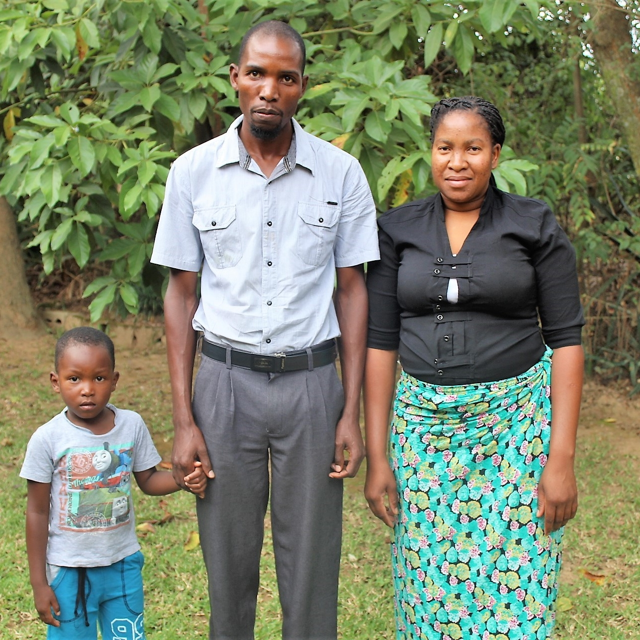 Jose and Obed Bazima with their son, Khensani