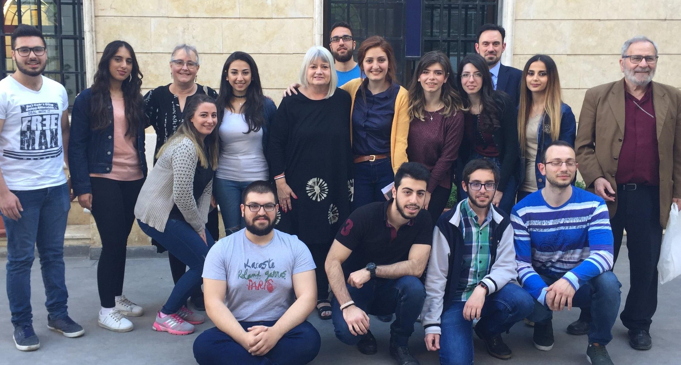 The youth group of Aleppo Presbyterian Church