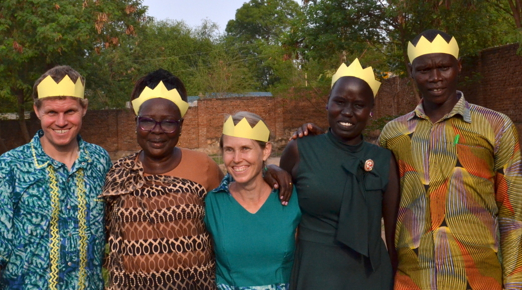 With Mama Sarah and team at the end of Healing the Wounds of Ethnic Conflict (HWEC) workshop  we conducted in Juba.