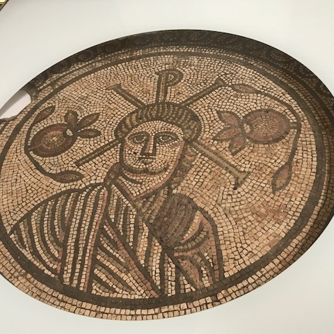 Mosaic of Jesus from Celtic Britain