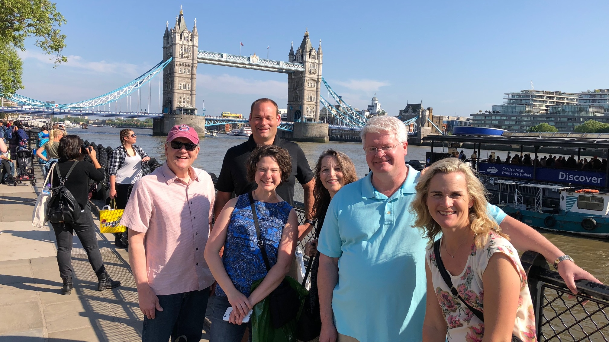 Team (minus Sasan, the photographer) in front of the Tower Bridge