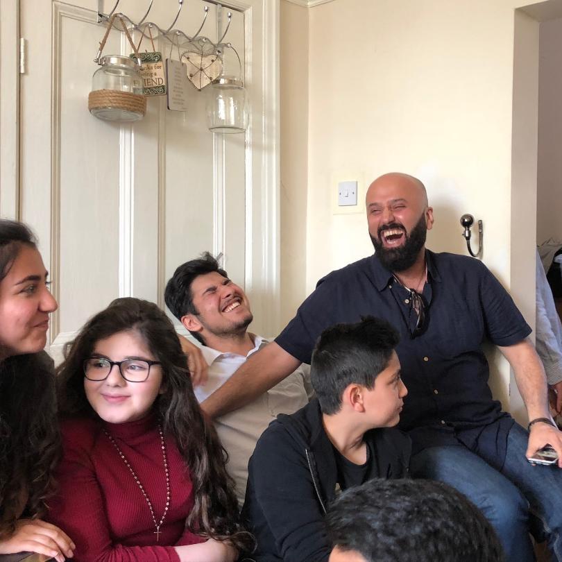 Pastor Mehrdad enjoying fellowship