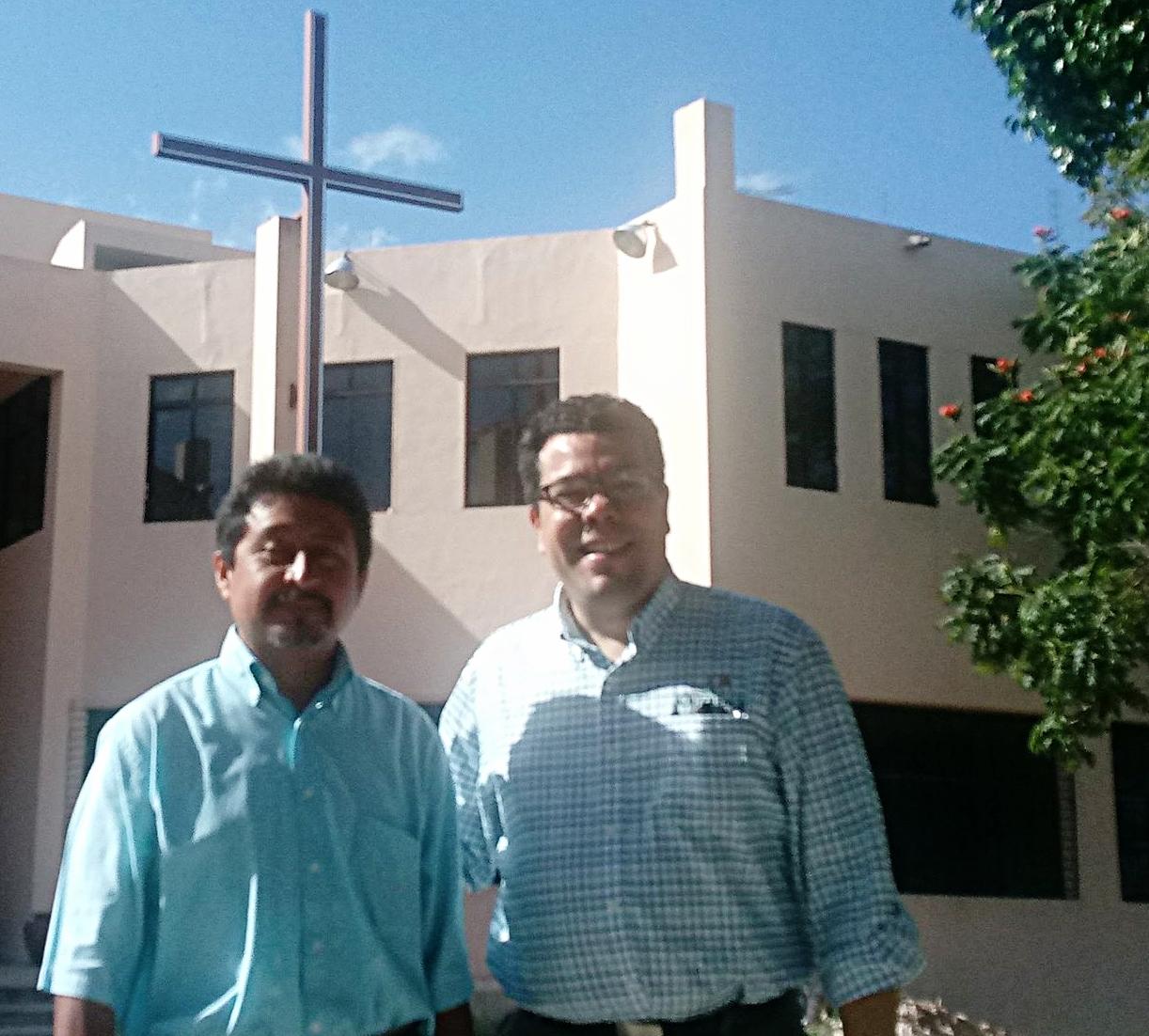 Rev. Amos Cahuich Yam and Outreach associate director Juan Sarmiento