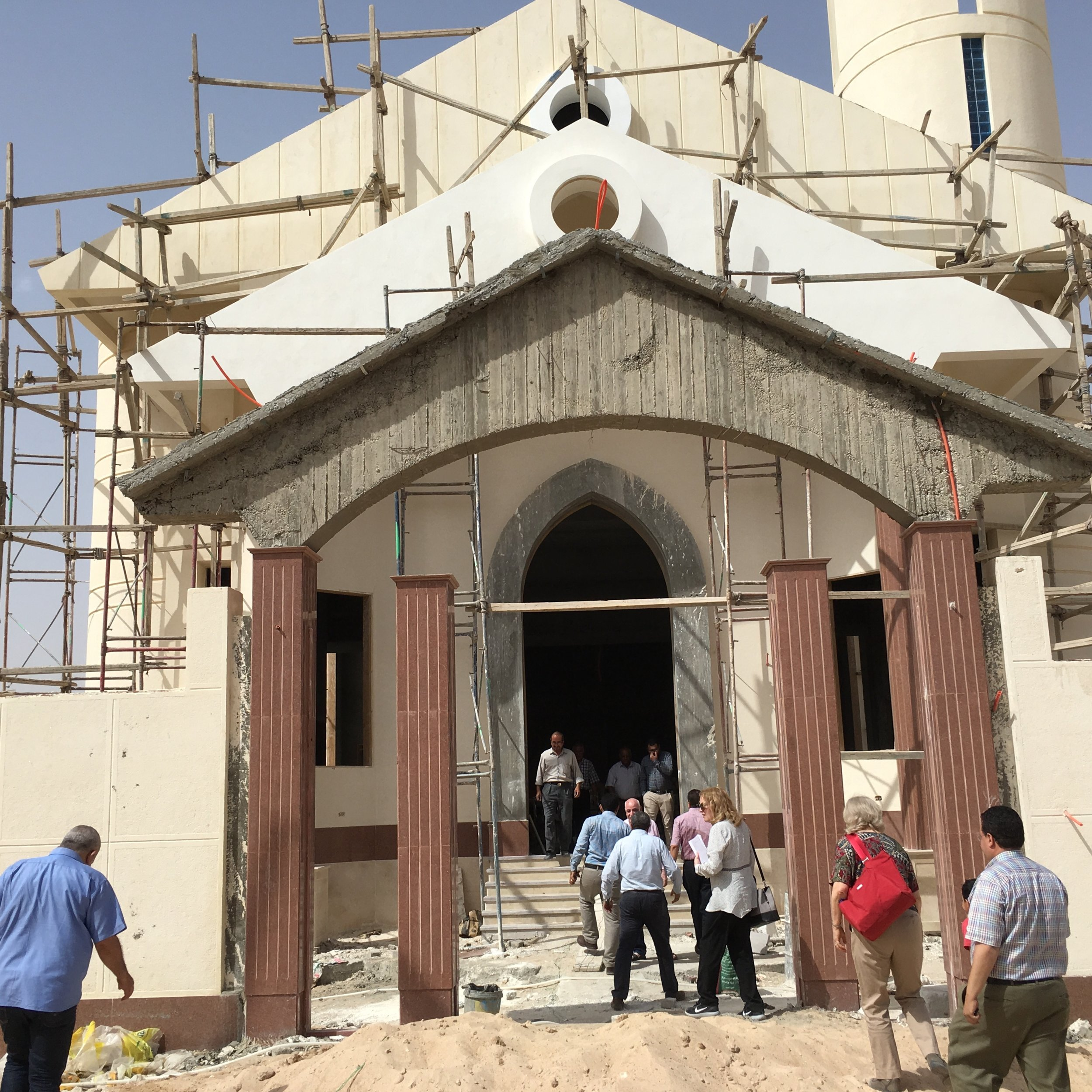 Church under construction at New Asyut