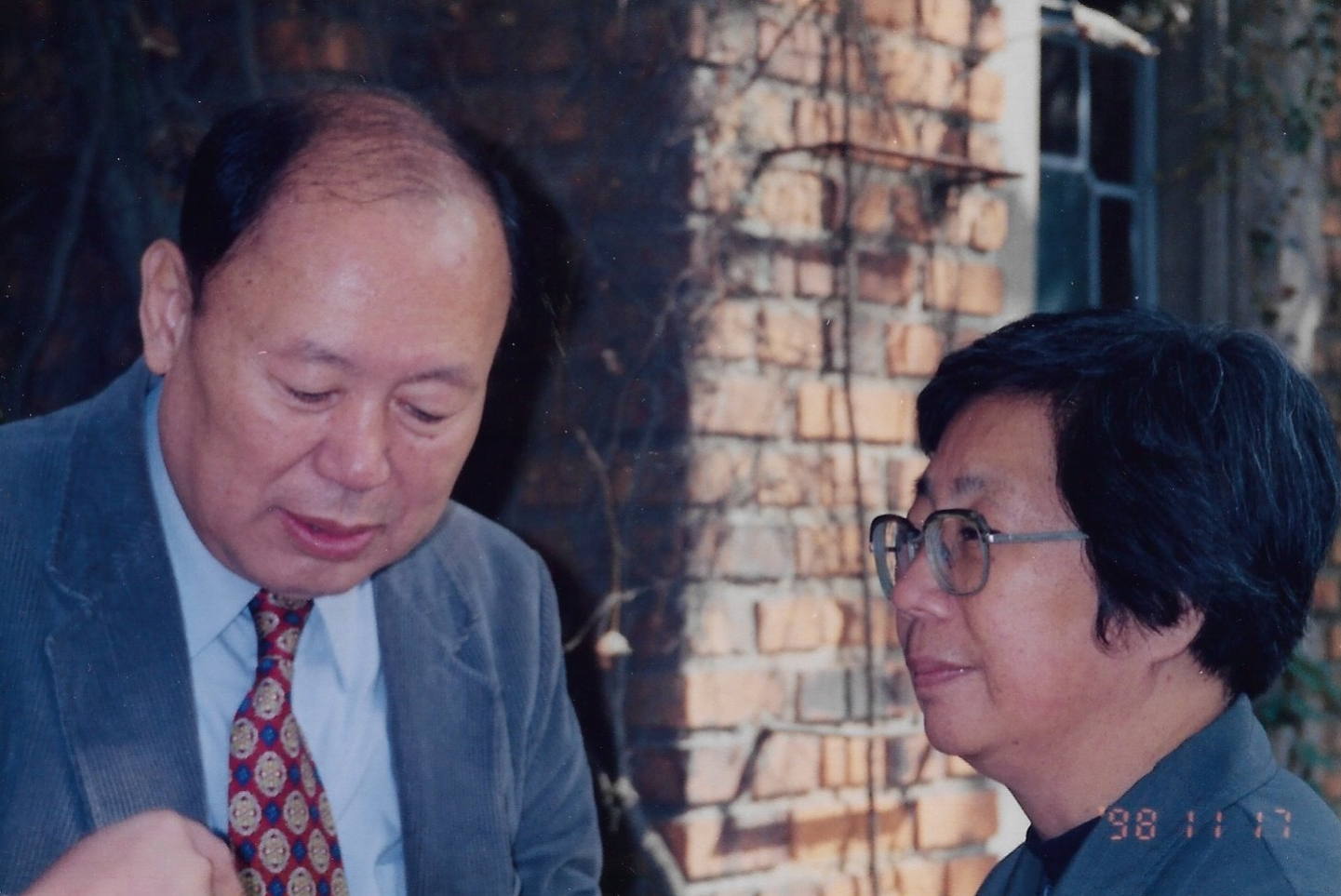 Insik Kim with Pastor Wang in Shanghai