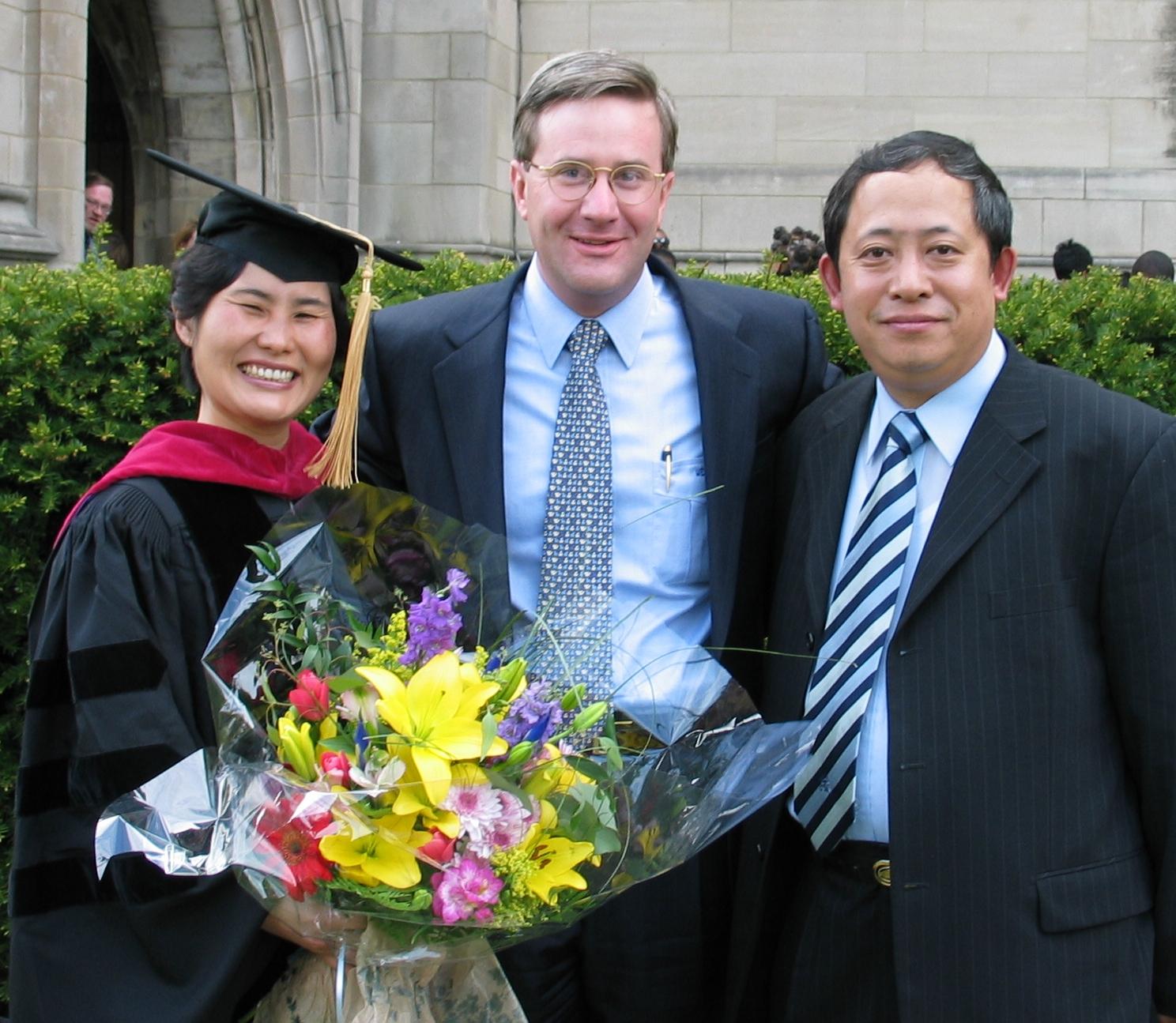 Walter Lewis with Pastor Li Meilan (she) and Pastor Lü De Zhi (he)