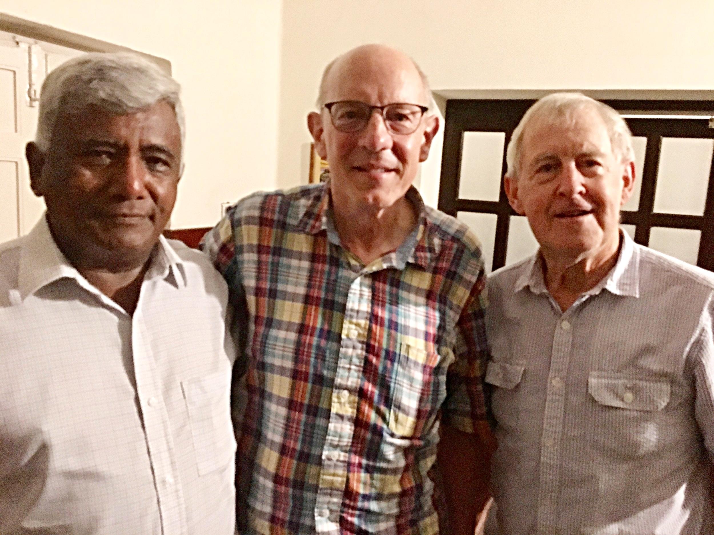Samwell Massey (recipient of a motorbike) Rob and Rev. Richard Paddon