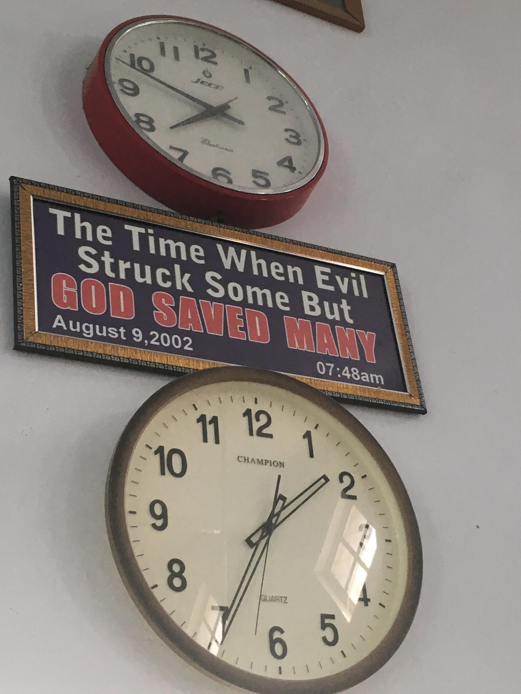 Clock in Taxila Christian Hospital chapel