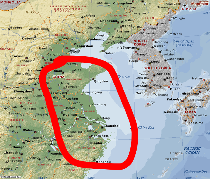 Map of the provinces with heritage of Presbyterian mission-Shandong, Jiangsu and Zhejiang