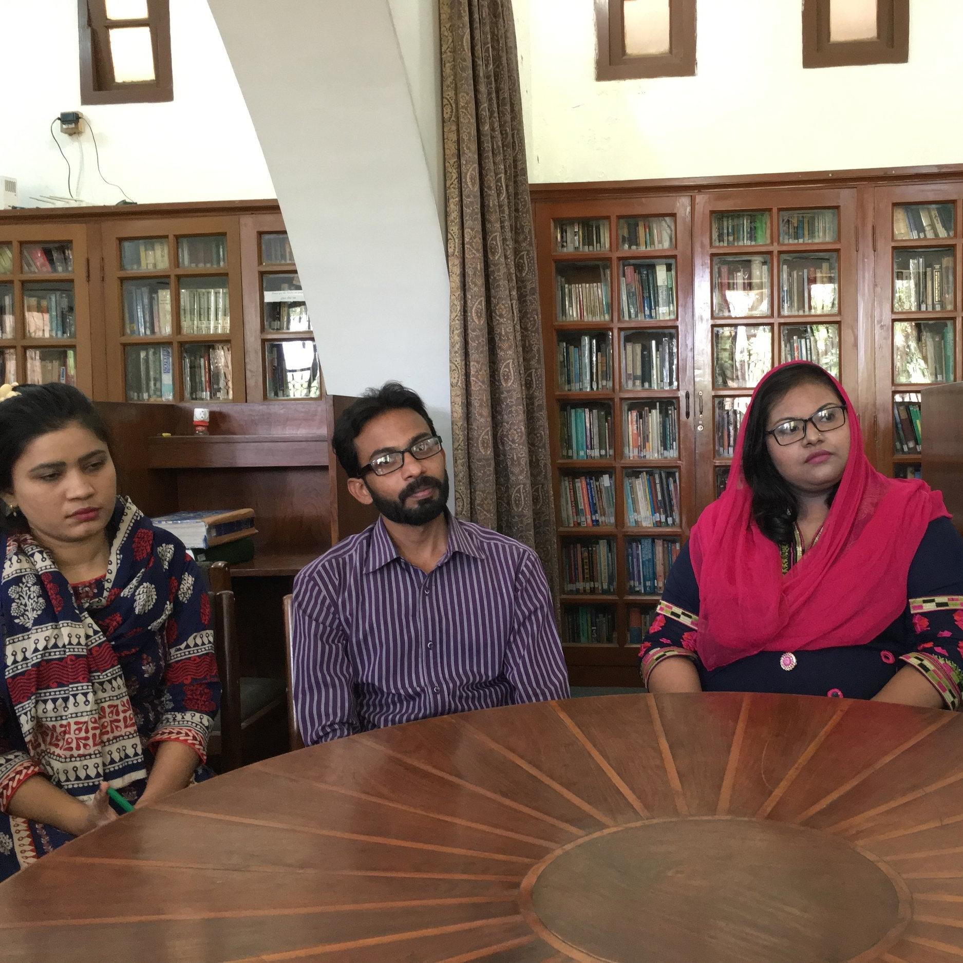 Students at Gujranwala Theological Seminary
