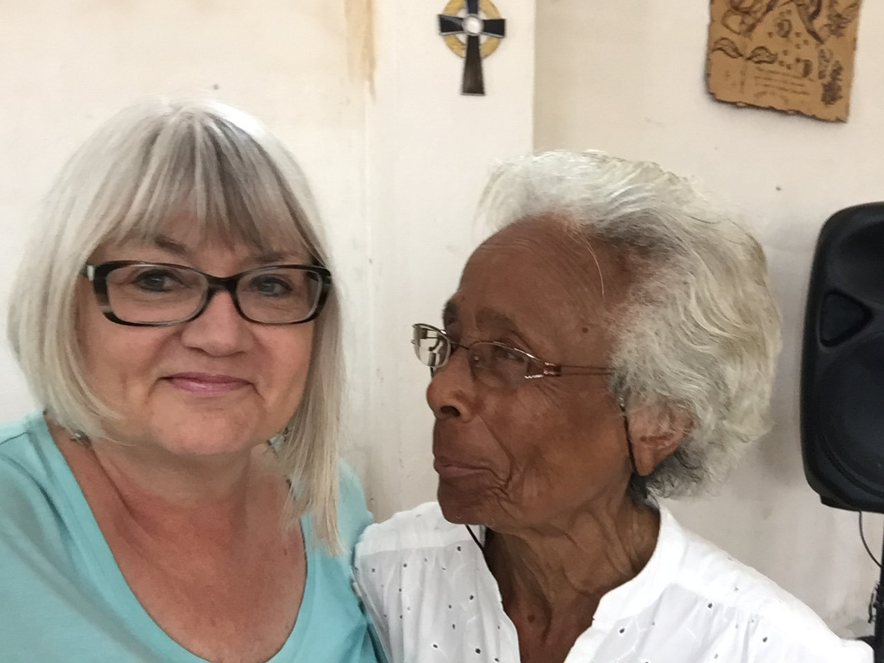Marilyn Borst and Mercedes at The Presbyterian Church of Sabanilla, known locally as the Resurrection Church