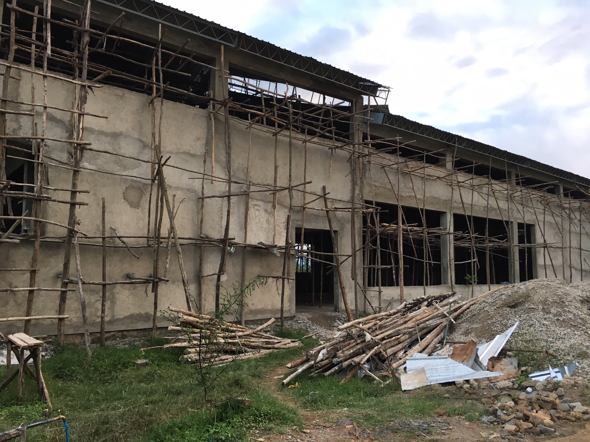 Church Construction in Jimma December 2018 update present sanctuary.JPG