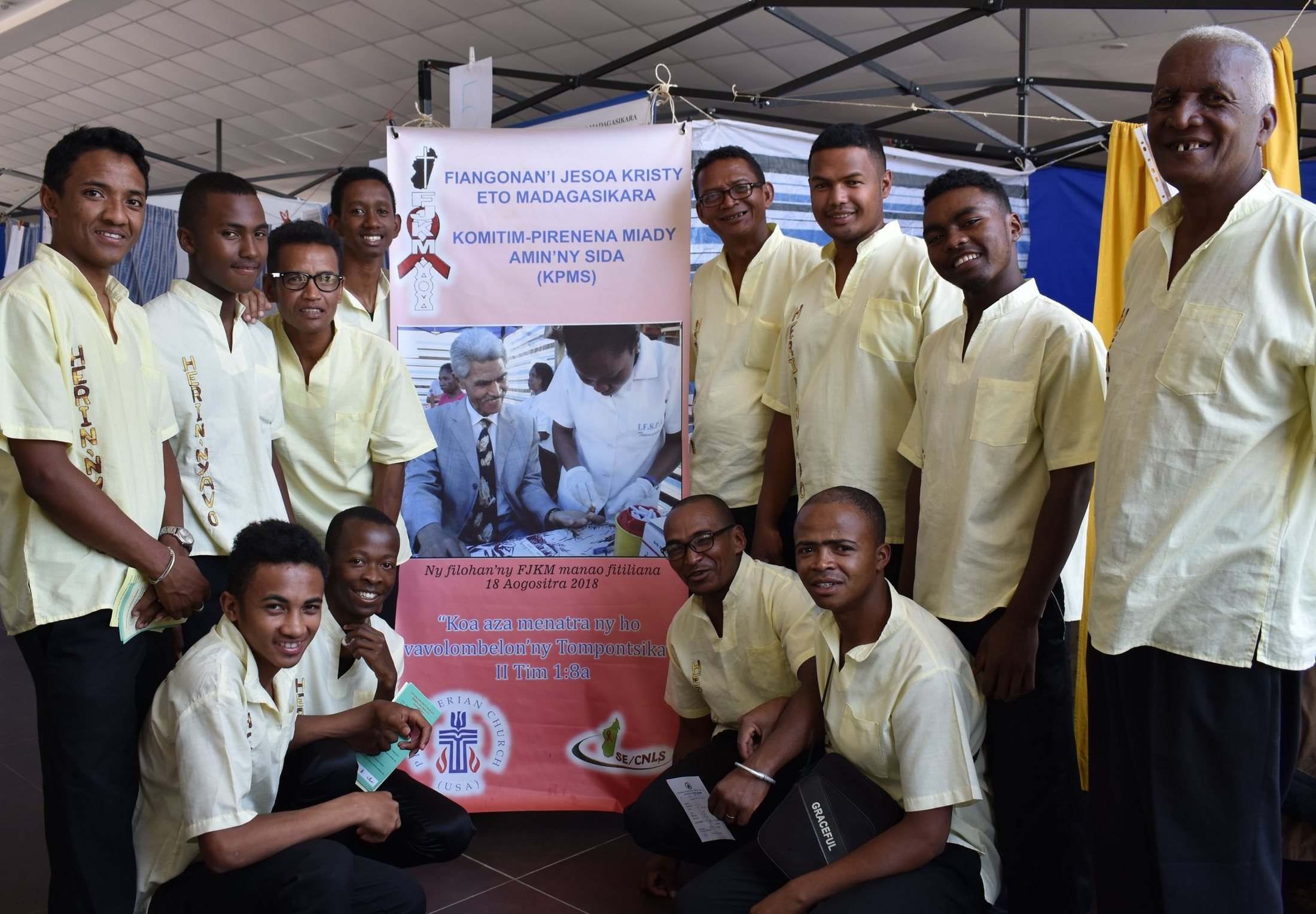 The whole choir got tested for HIV during an FJKM fair following the FJKM president's example.
