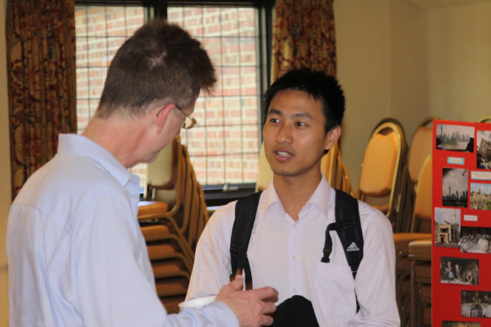Wang Bin with Ken McFayden from Union Seminary