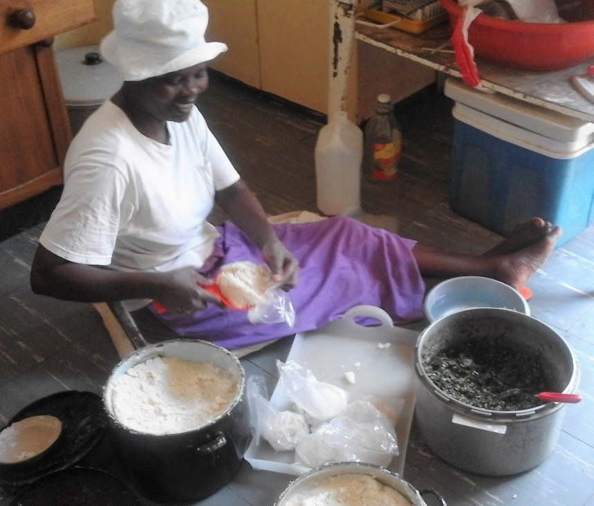 Home of Hope January 2019 preparing bags of maize meal for dressmaking students.jpg