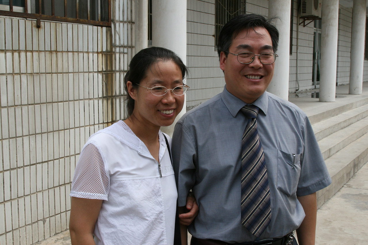Rev. Wang Hong, left and Rev. Wang Jun, right  Shaanxi Provincial Christian Council leaders