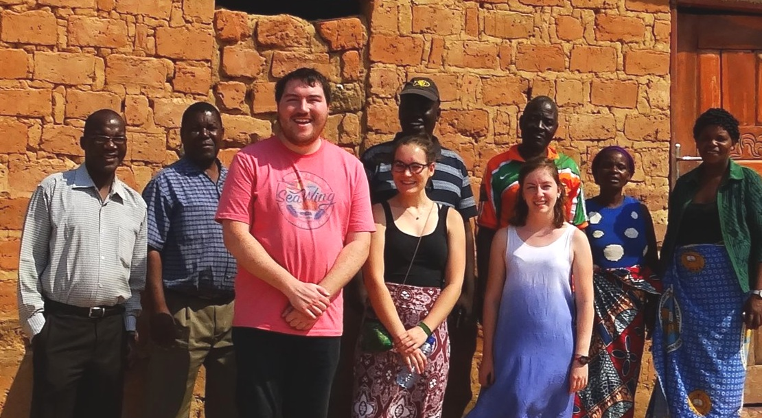 "Rev. Phiri (far left) and others from Lusaka and Chimwangombe, training the Young Adult Volunteers to become, as Rev. Phiri often joked, ""Young African Villagers."""