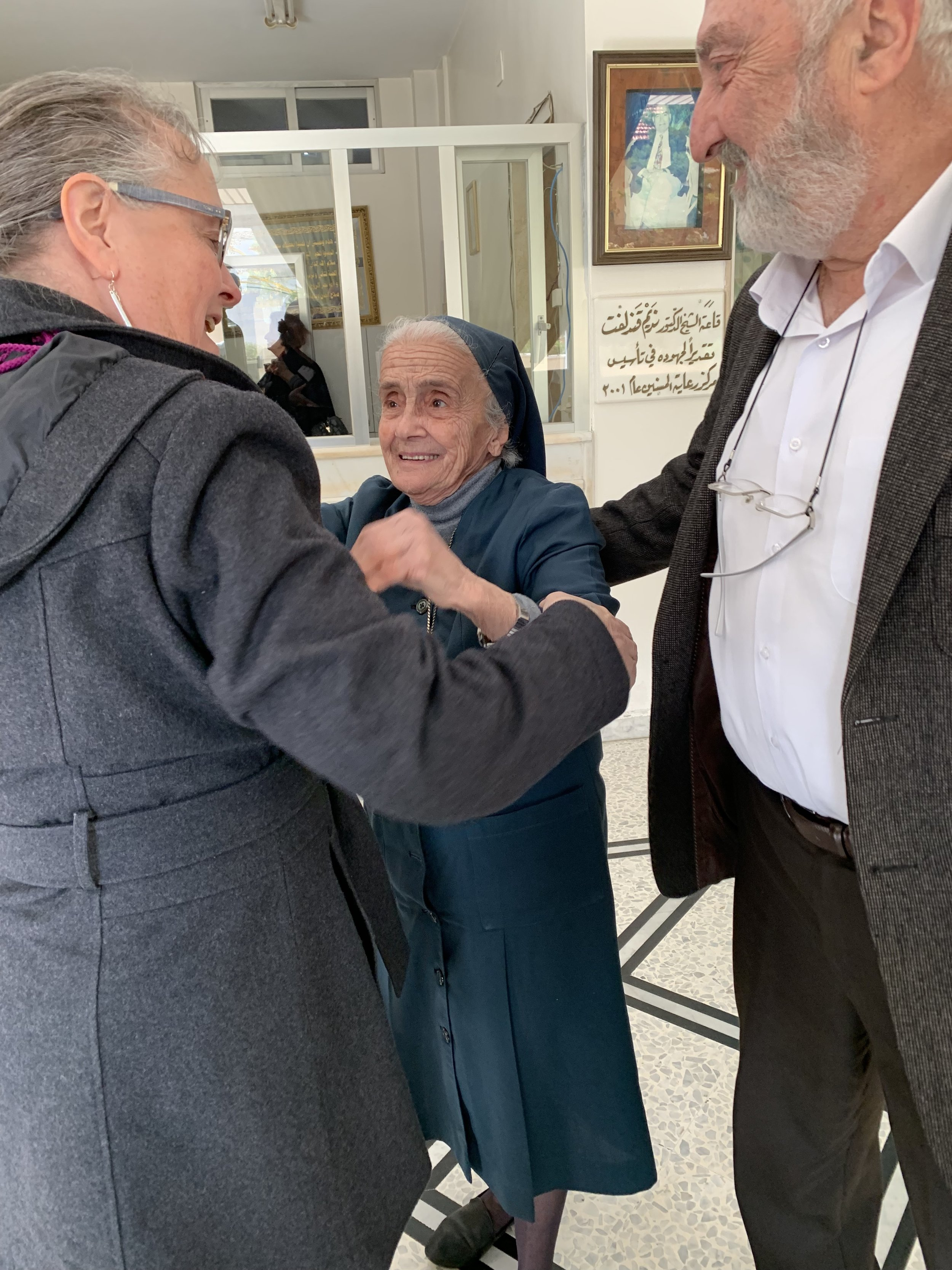 In the Home for the Elderly in Homs with Sr. Valentina who runs this respite care center and elder Marwan