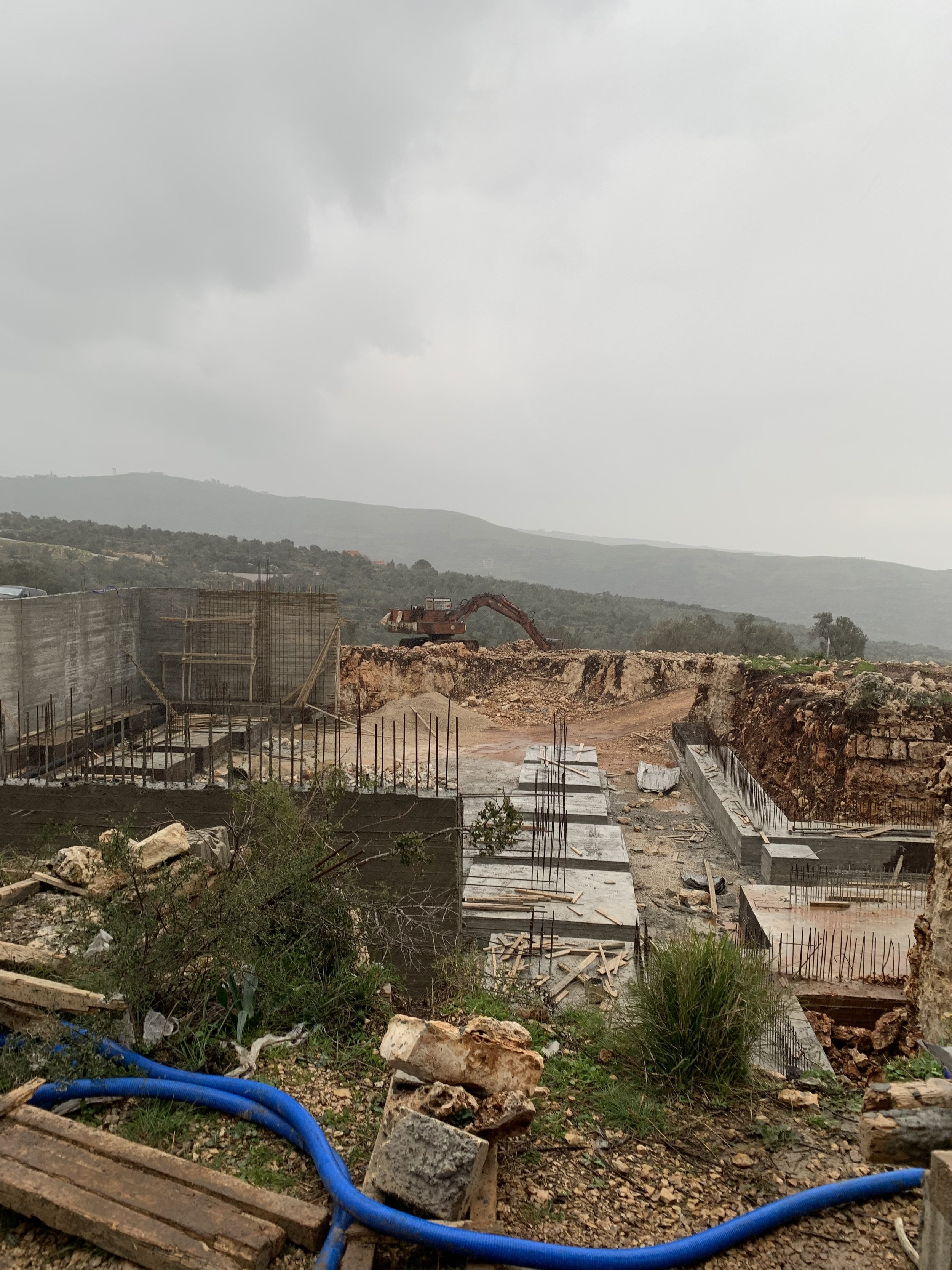 Overview of construction site