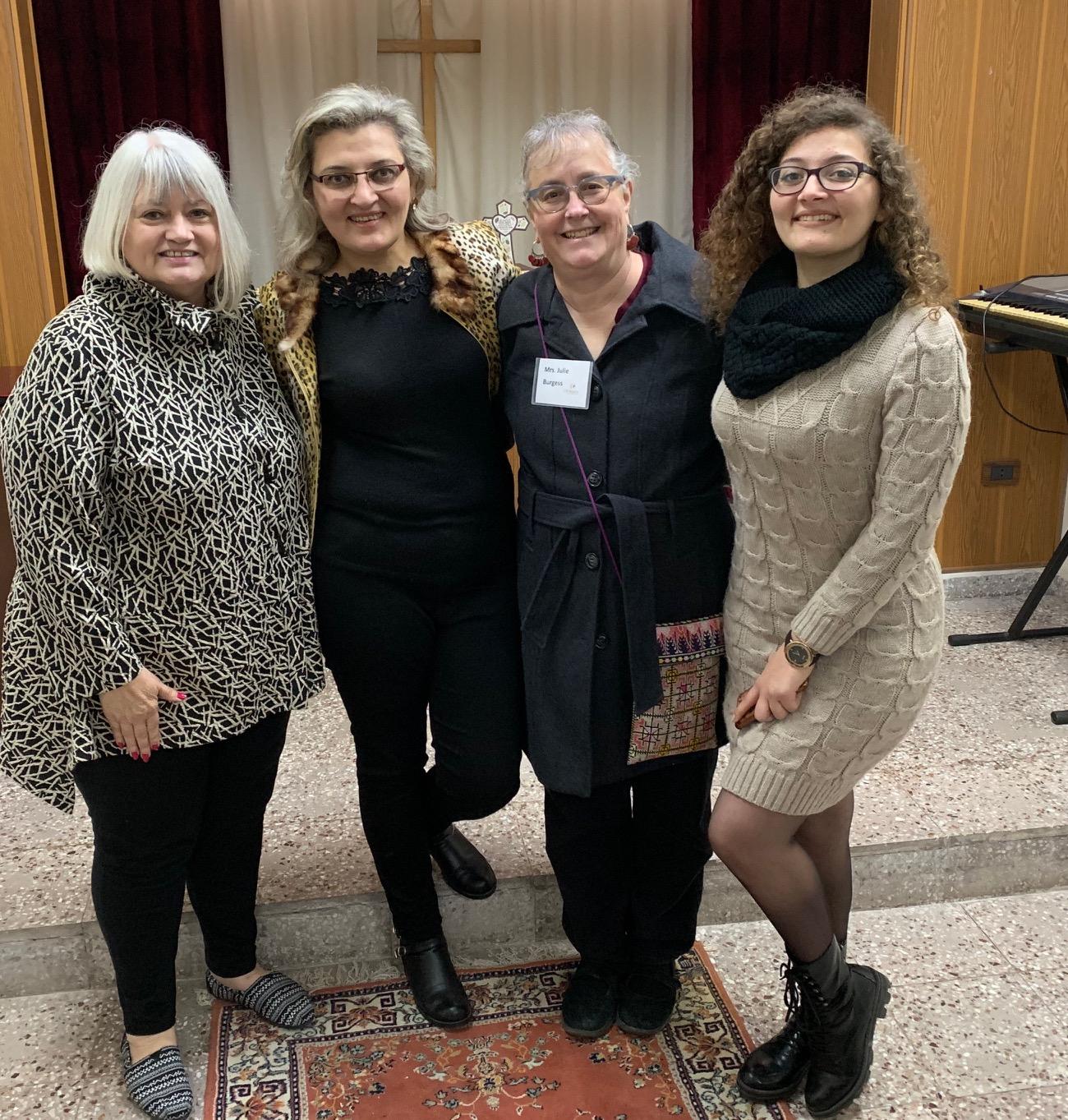 Marilyn, Banyas Elder Georgette Mg, Julie and Nellie, daughter of Georgette