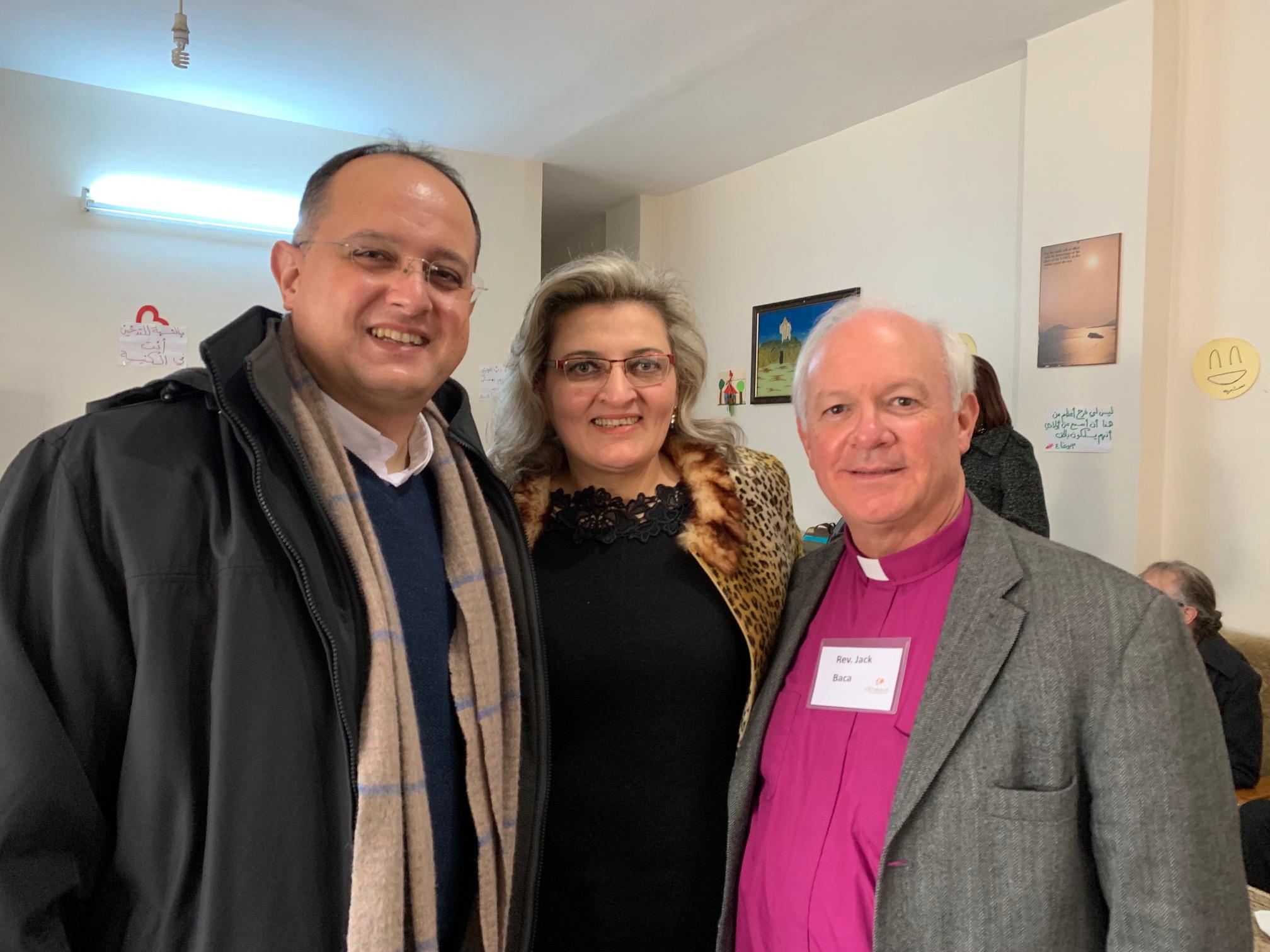Rev. Salam Hanna, Georgette Mq, Rev. Jack Baca