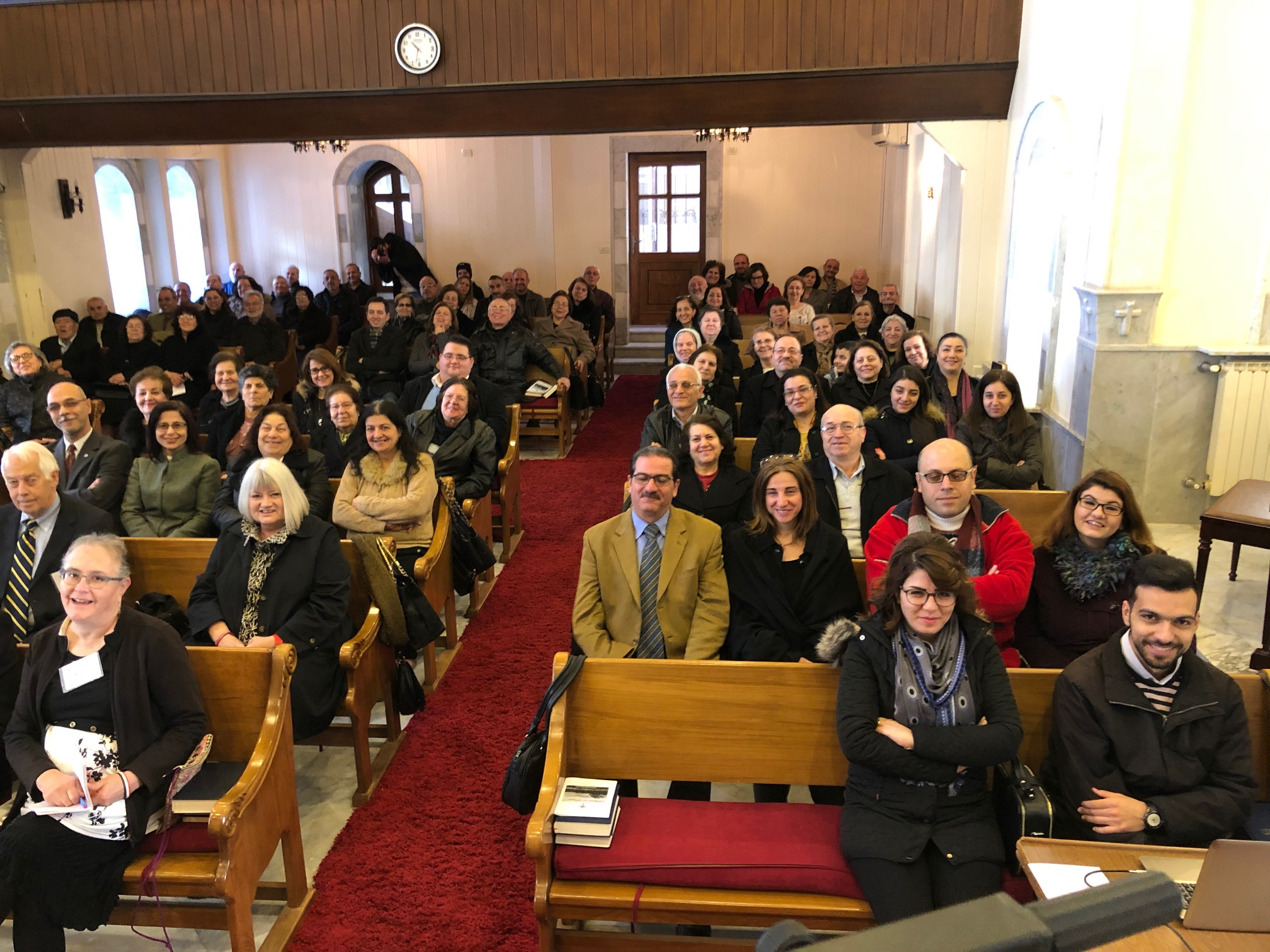 Full worship in Homs church