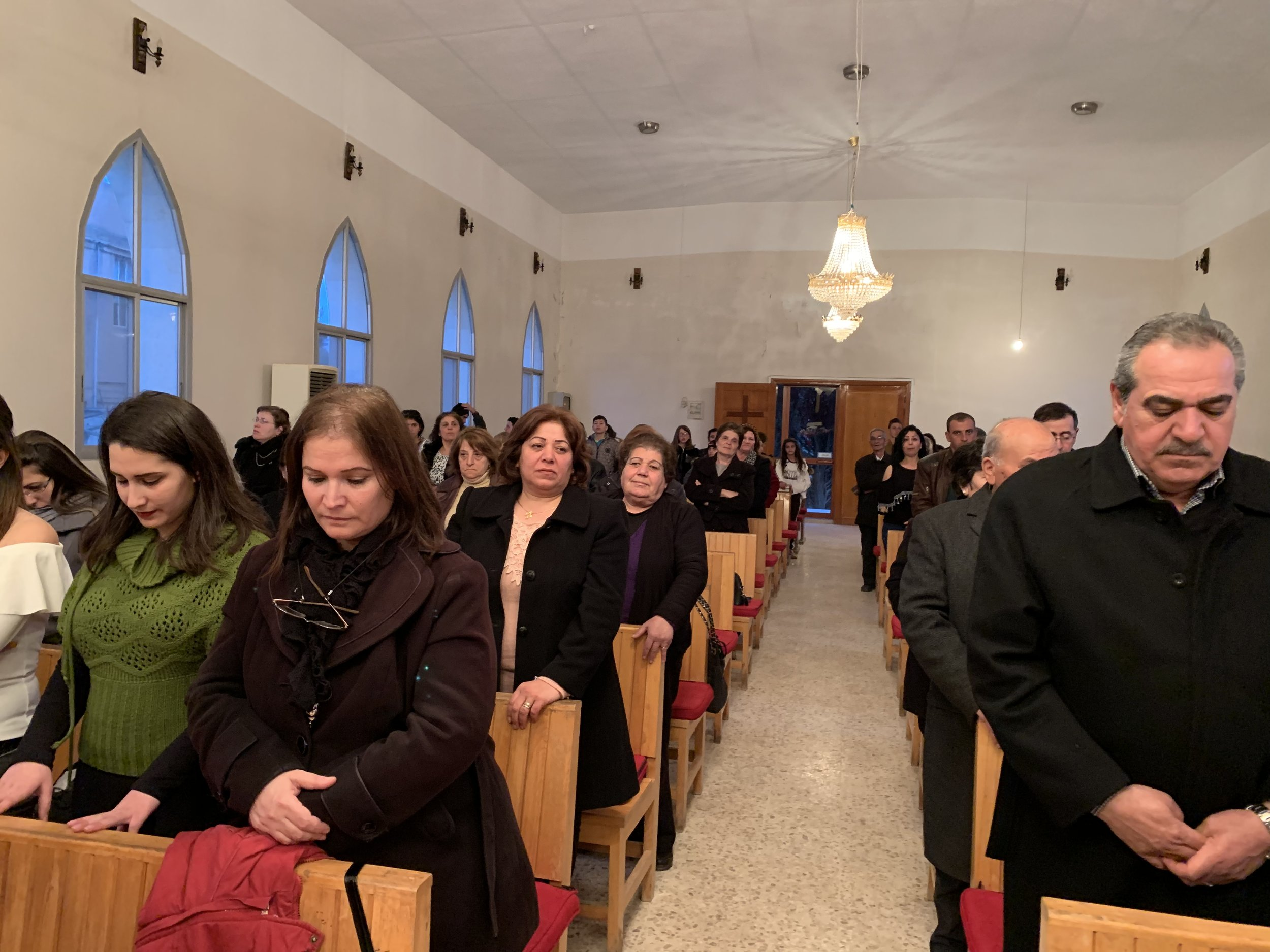 The congregation of Fairouzeh gathered to worship with us