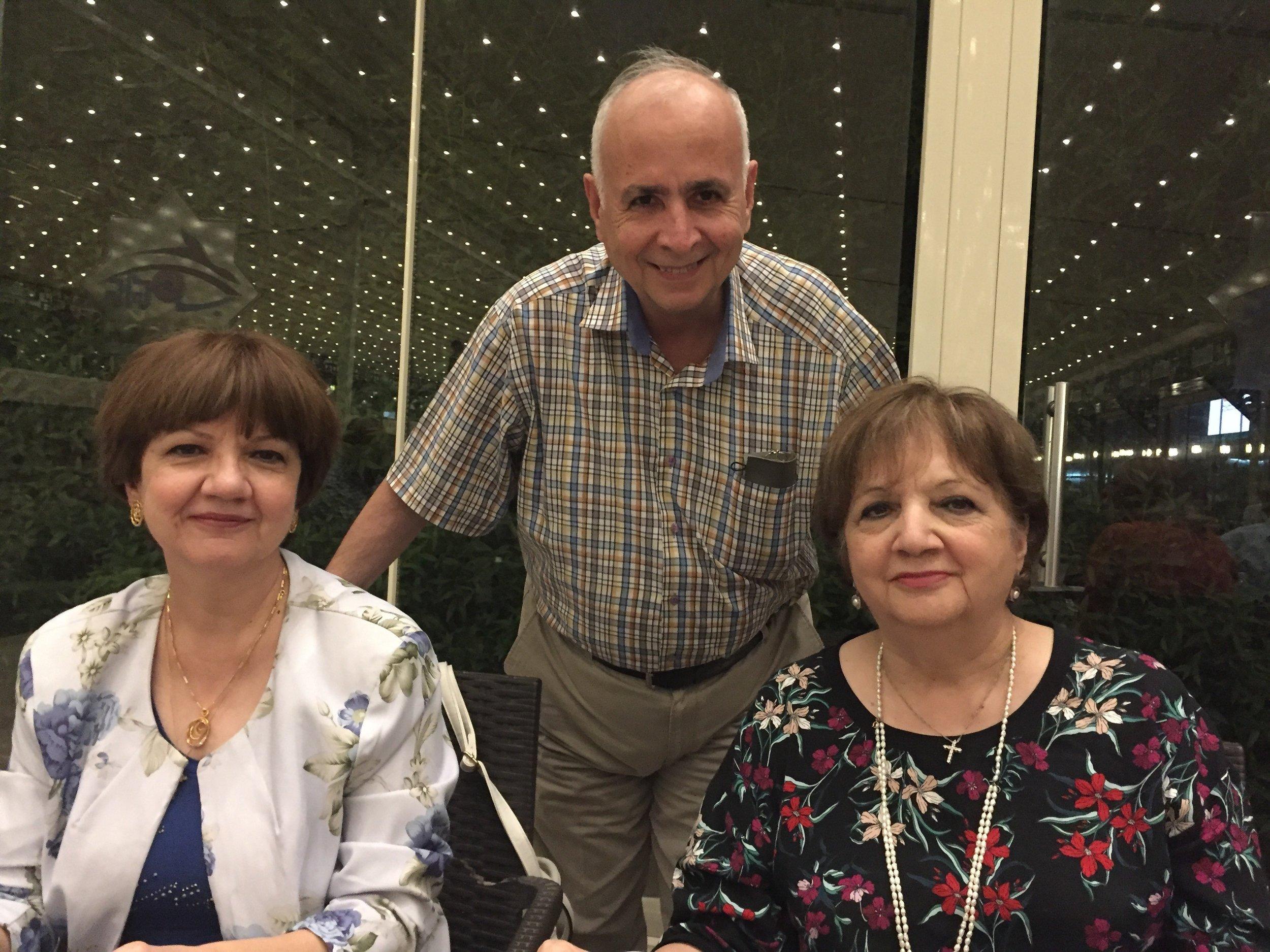 Rev. Farouk Hammo and sisters Bushra and Najaat