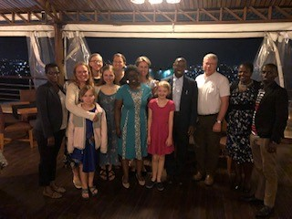 Outreach group with the President of the EPR, Reverend Doctor Pascal Bataringaya and the Vice President, Reverend Julie Kandema